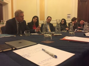 UK Ambassador to USA, Sir Kim Darroch, briefing JAS members
