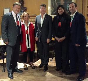 Ambassador Barzun and JAS Board members at the early 4th July party