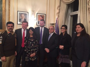 Presentation and reception at the Pakistani High Commission